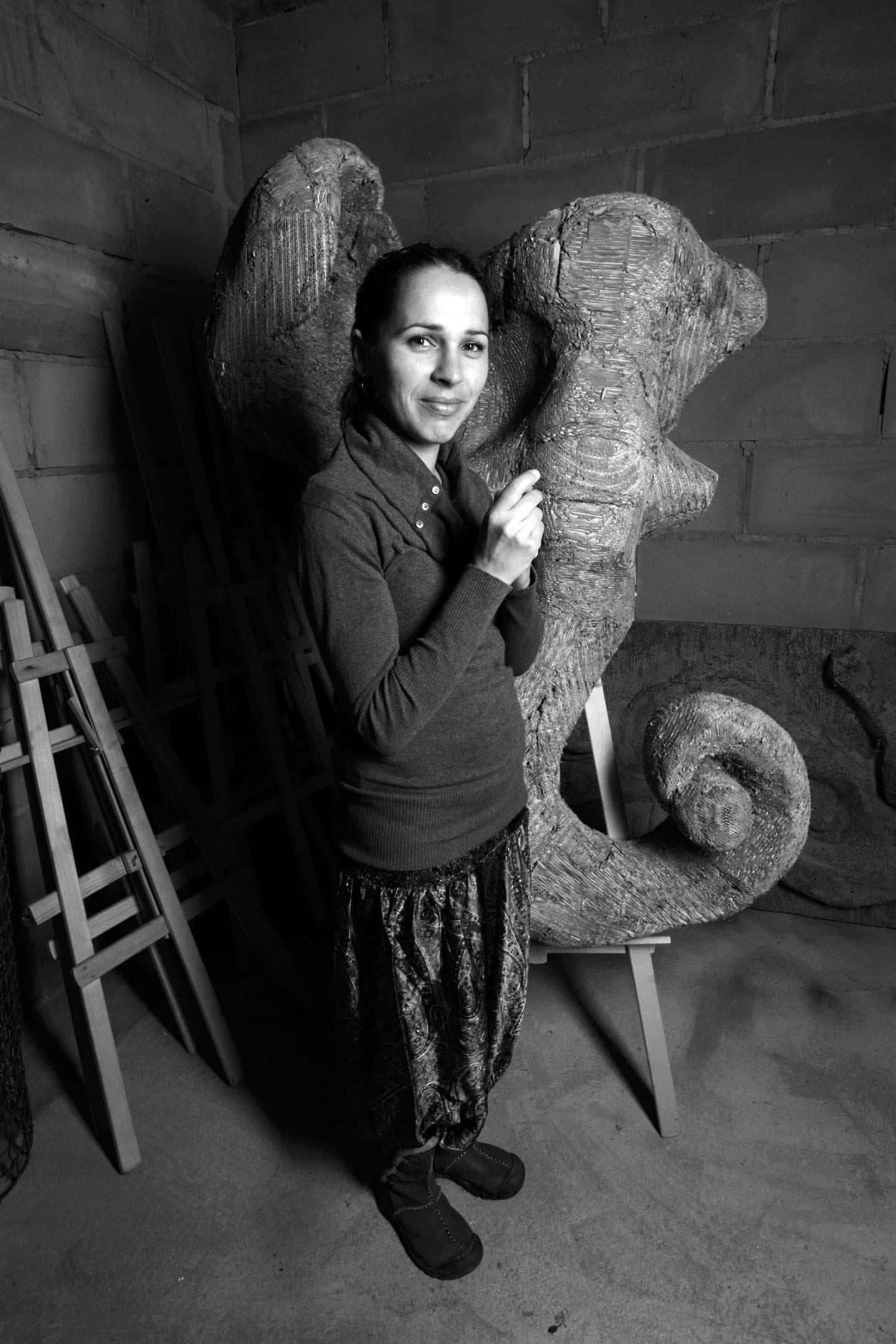 Małgorzata Mirga - artysta plastyk. Fot.Chad Evans Wyatt