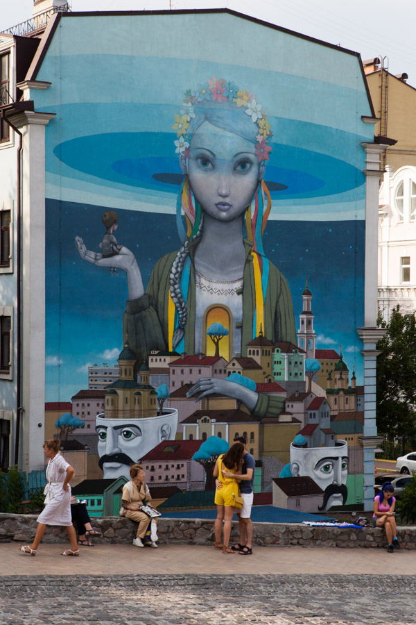Mural duetu Interesni Kazki. Fot.DK
