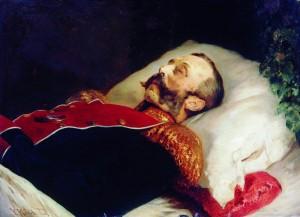 Alexander II - portret pośmiertny Konstantina Makovsky'ego (1881). Źródło: pl.wikipedia.org.