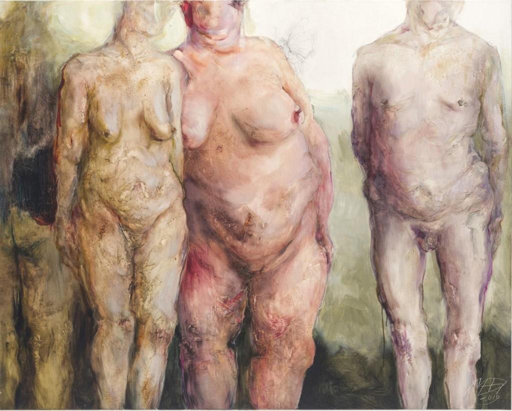 Cztery dojrzałe nagie kobiety.