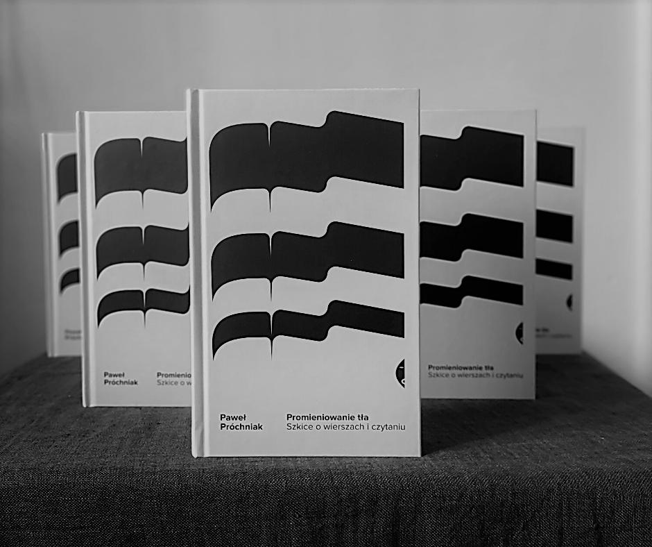 Czarno-białe zdjęcie zustawionymi książkami.